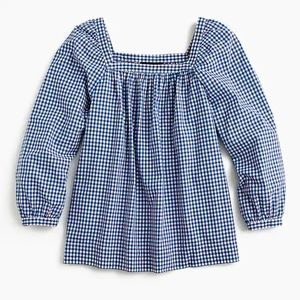 J Crew 2T Tall Penny cotton square neck top